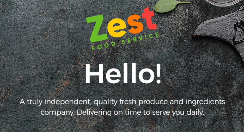 ZestFoodService.co.uk Website Launch!